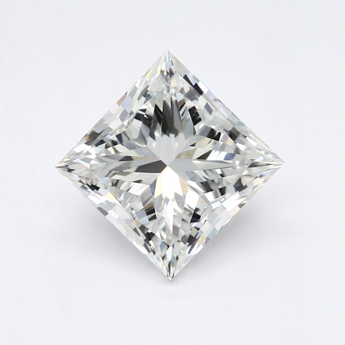 1.60-Carat Lab Created Ideally Cut Princess Diamond