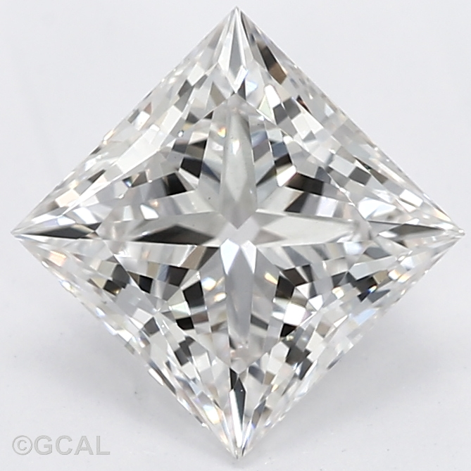 0.78-Carat Lab Created Ideally Cut Princess Diamond